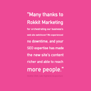 Rokkit Client Review - Website SEO