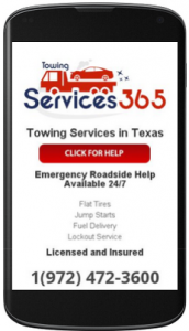 Towing Services 365 - Mobile Design Website
