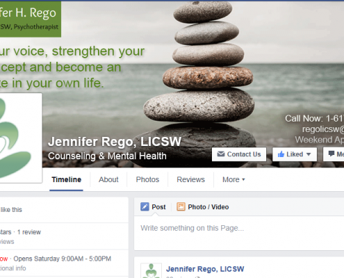 Jennifer Rego - Client - Facebook Page Creations