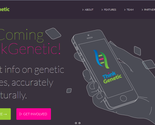 Rokkit Marketing Client Think Genetic Modern Product Site